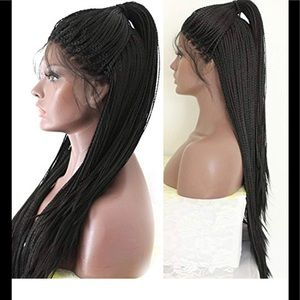 """Brand new lace front micro braids wig 24"""""""
